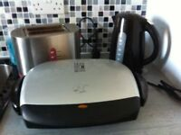 kettle / toaster and gerge forman grilling machine