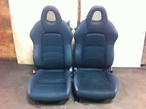 JDM HONDA S2000 AP1 BLACK SEATS USED PAIR IMPORTED FROM JAPAN