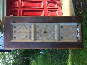 ANTIQUE OAK DOOR WITH 300YEAR OLD PANEL INSET