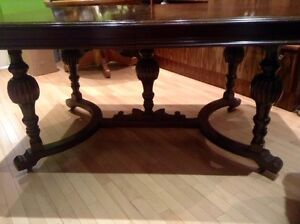 WALNUT DINING TABLE FROM THE 1940 ERA London Ontario image 3