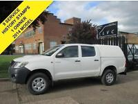 2014 63-REG TOYOTA HILUX 2.5 HL2 4X4 D-4D DOUBLE CAB PICK UP. 144 BHP. FACELI