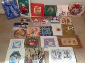 JOBLOT OF 100 CHRISTMAS CARDS UNUSED WITH ENVELOPES