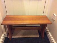 Wooden pine bench