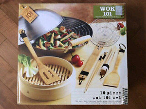 Brand new 10pcs wok set