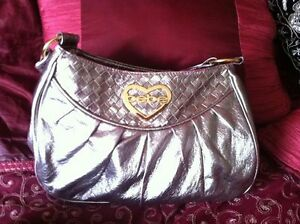 Bebe purse, pewter