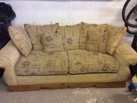 Sofa and chair for sale.