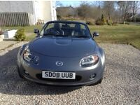 2008 MAZDA MX5 2.0LTR SPORT SOFT TOP WITH VERY LOW MILEAGE. MX-5