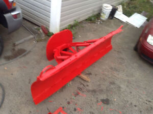 "Plow for tractor bucket 7'3"" manual angle  flip edge ,saves time"