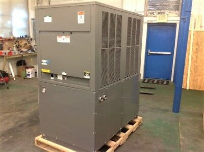 NEW 10 ton Air Cooled Chiller N. American Made OUTDOOR rated large tank R410a