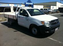 2007 Toyota Hilux TGN16R MY07 Workmate White 5 Speed Manual Cab Chassis Gladstone Gladstone City Preview