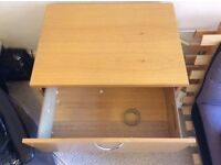 Wooden 2-drawer storage unit £40 for quick sale - collection only WxLxH(cm): 60 x 82 x 73 cm