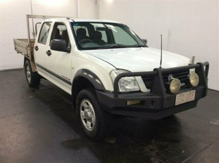 2005 Holden Rodeo RA LX (4x4) White 5 Speed Manual Crew Cab Chassis Cardiff Lake Macquarie Area Preview