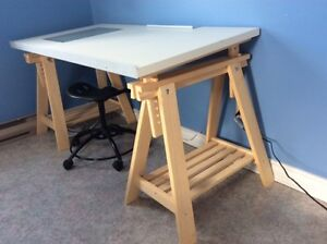 drawing drafting table with legs