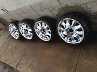 "17"" CHROME CABO RIMS 9/10 CONDITION SERIOUS INQUIRY ONLY!!!!"