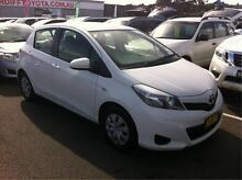 2012 Toyota Yaris NCP130R YR White 5 Speed Manual Hatchback Cardiff Lake Macquarie Area Preview