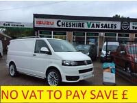 12 REG VW TRANSPORTER 2.0 T 5 FSH SPORTLINE STYLED NO VAT CHOICE OF 15 IN STOC