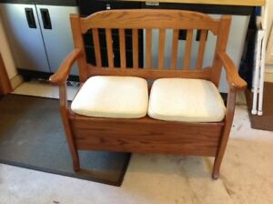 Deacons Bench, Custom made, Solid oak