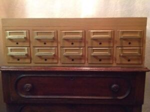 10 Drawer Library Cabinet