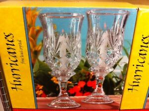 Fine lead crystal candle holders