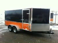 7' x 14' x 6' Tall Enclosed V-Nose toy hauler Cargo  2 Yr. warr.