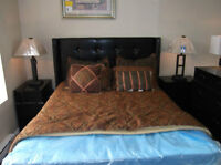 Beautiful Studed Leather 5pc Bed Set