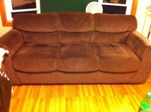 Chocolate Brown Couch & Loveseat