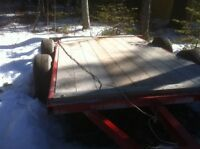 Beautiful Flat Bed Tandem Trailer New this fall! New , 5'x10'