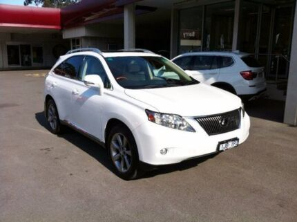 2012 Lexus RX350 GGL15R MY11 Sports White 6 Speed Sports Automatic Wagon