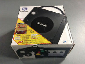 NINTENDO GAMECUBE WITH ZELDA GAMES AND TOY