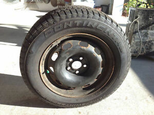 CONTINENTAL Extrem Winter tires on rims 195 65 15