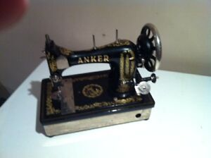 Old Singer and Anker sewing machines
