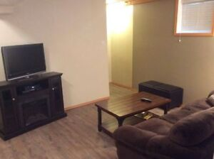 Fully furnished Basement suite for rent Available September1st