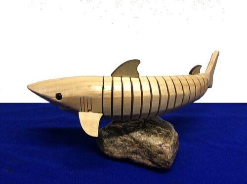 Wooden Shark ~ Flexible ~ Moveable ~ Figurine ~ Statue