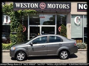 2009 Chevrolet Aveo LT*AUTO*ACC FREE*SUNROOF*100% APPROVED