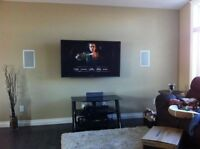 Want your TV wall mounted? Wall Mount / Hidden Wires / Visa /