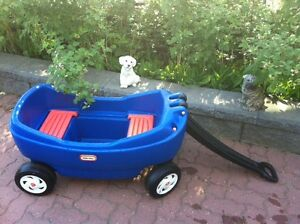 LITTLE TIKES WAGON WITH SEATS OR FLAT BOTTOM