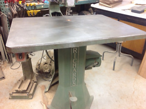 """Industrial 30"""" Table Jig Saw with Drill Attachment"""