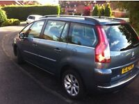 2012 Citroen Picasso 7 seater 62 low mileage in grey metallic full year's MOT newly serviced