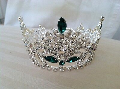 Austrian Crystal Full Round l Crown   3 1/4