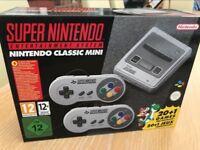 New & Sealed Mini SNES Super Nintendo 22 games 2 controllers