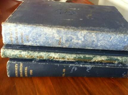 ADMIRALTY NAVIGATION MANUALS 1938 Volumes I, II, III SET GC