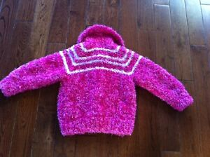 Girls Toddler Size 3T/4T - Soft Pink Hand Knit Sweater Strathcona County Edmonton Area image 2
