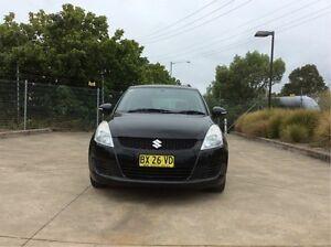 2012 Suzuki Swift FZ GA Black 4 Speed Automatic Hatchback Glendale Lake Macquarie Area Preview