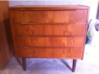 Vintage Small chest of drawers and record cabinet