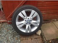 Mercedes alloy wheels with winter tyres size 225/45-17