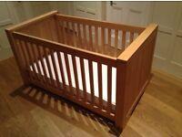 Kidsmill Bretagne Solid Oak Designer Cot Bed