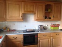 Quality kitchen base and wall units with solid maple doors ideal for refurbishment