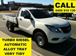 2015 Mazda BT-50 MY16 XT Hi-Rider (4x2) Cool White 6 Speed Automatic Cab Chassis