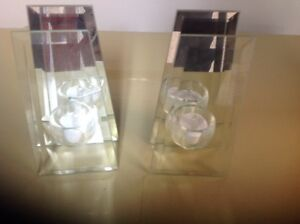 MIRRORED CANDLE HOLDERS-STUNNING-PRICE DROP