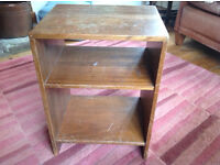 Solid wood antique bedside table